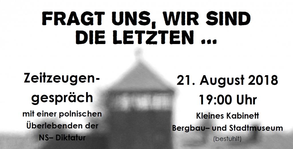 Rückblick: Zeitzeugengespräch im Bergbau- und Stadtmuseum